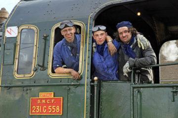 Un train à vapeur à Dieppe